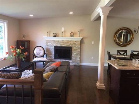 Split P Home Decor : Transformed Split Entry Into Spacious Great Room With