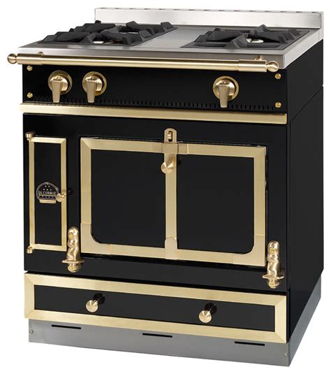 la cornue of chateau 75 in black traditional gas ranges and electric ranges other