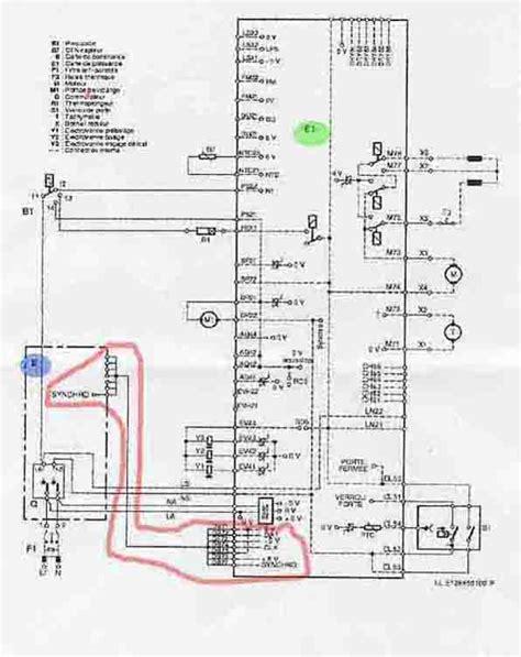 schema electrique lave linge