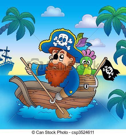 Dessin Animé Bateau Pirate by Clipart De Pagayer Dessin Anim 233 Bateau Pirate Dessin