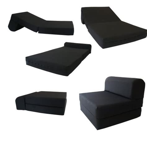 black sleeper chair folding foam bed sized 6 thick x 32