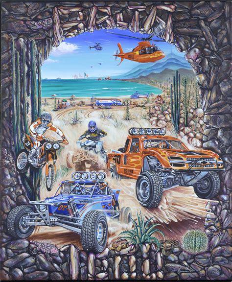 tecate score baja 1000 original painting for 40 years to