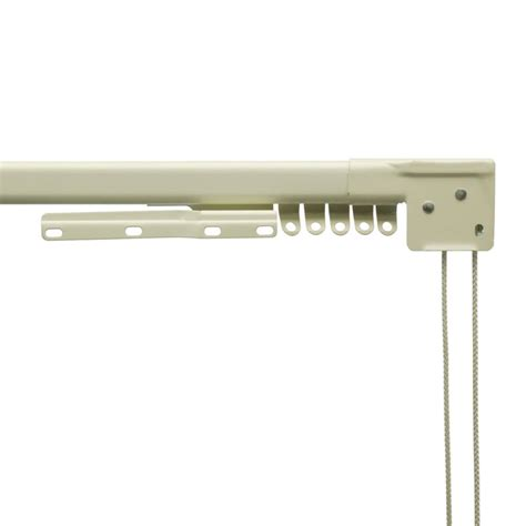 style selections metal traverse curtain rod lowe s canada