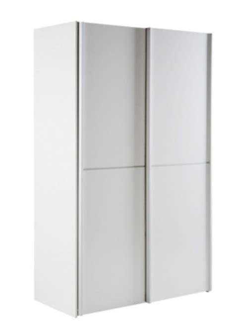 Armoire 2 Portes Coulissantes Best Lak L 120 Cm Blanc Pas