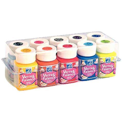 peinture verre faience bo 238 te de 10 flacons de 50ml lefranc bourgeois peinture sur
