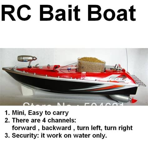 Rc Control Fishing Boat by Rc Bait Fishing Boat Working Distance 200 Meters Red Car