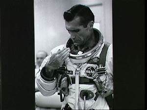 Astronaut Richard Gordon during suiting up operations ...
