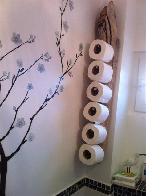 porte stock papier wc en bois flott 233 pratique toilettes surf et troncs d arbres