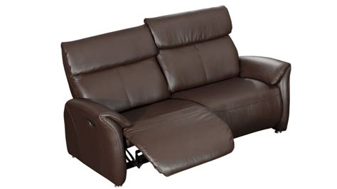 canap 233 relax 2 places tout cuir ohio mobilier moss