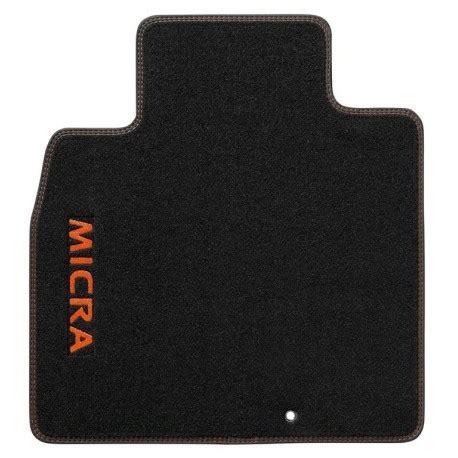 tapis de sol velours logo surpiqures orange racing nissan micra accessoires nissan
