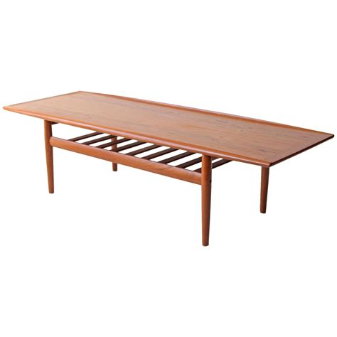 Grete Jalk Danish Modern Twotier Teak Coffee Table At 1stdibs