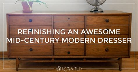 Refinishing An Awesome Mid-century Modern Dresser