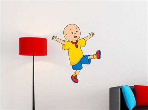 Caillou Wall Decal Matte Finished No White Border By