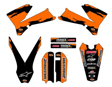 kit d 233 co personnalisable ktm 85 sx de 2003 224 2015 mx stickers kdp85sx