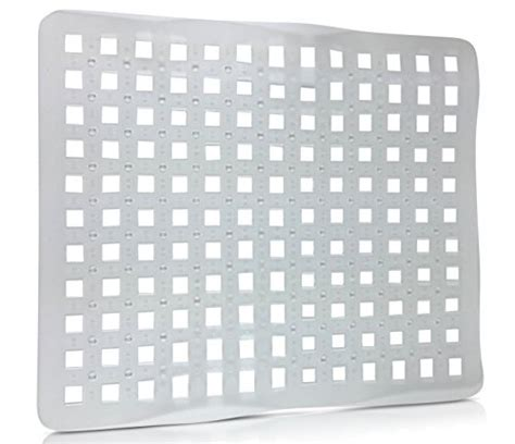 set of 2 clear sink mat basin protector perforated design import it all