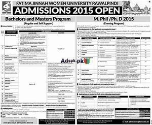 How to Apply Fatima Jinnah Women University Rawalpindi ...