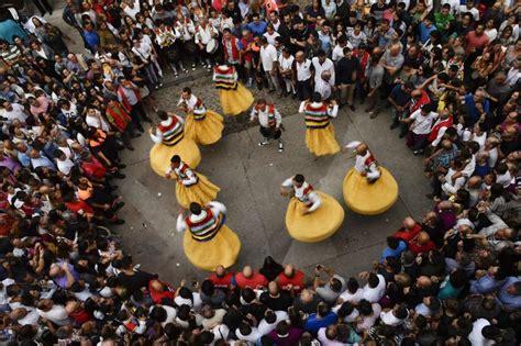 Spain Celebrates Danza De Los Zancos