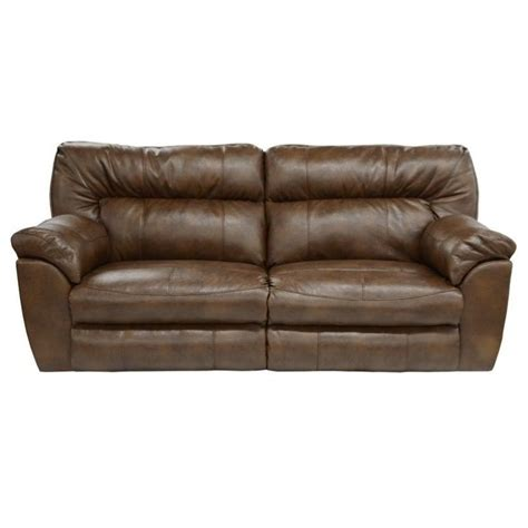 catnapper nolan leather power reclining sofa in chestnut 64041122309302309