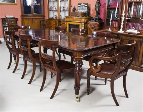 Antique Regency Mahogany Dining Table 8 Regency Chairs Pics Of Kitchen Sinks How To Replace Sink Strainer Single Bowl Top Mount Pictures And Faucets Drain Kit French Country Rv Covers Franke India