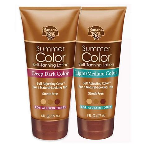 Is Banana Boat Self Tanner Safe banana boat self tanning sunless lotion for a