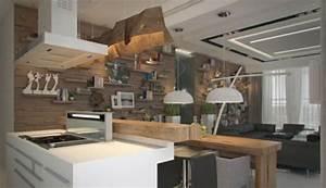 Holz Dekoration Modern : kreative interieur ideen extravagante ausstellung von innendesigns ~ Markanthonyermac.com Haus und Dekorationen