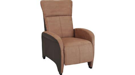 fauteuil relax manuel microfibre brun clair et fonc 233 fauteuil relax pas cher