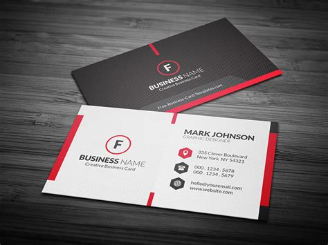 Scarlet Red Creative Business Card Template » Free