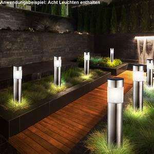 Leuchten Für Garten 8er Set Led Solar Steck Leuchten Garten Weg Au