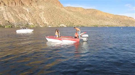 Boat R Canyon Lake by Canyon Lake Arizona Motorcycle Powered Boat Youtube
