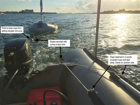 Board Behind Boat by How To Tow Inflatable Boats Behind Yacht Or Sailboat