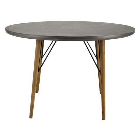 table ronde de salle 224 manger en bois d 120 cm cleveland maisons du monde
