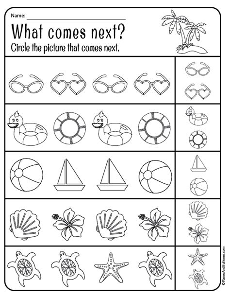 Summer Worksheets Pdf01  Planes & Balloons  Printables For Everyday Life