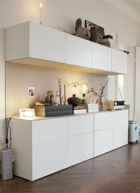 White Storage Cabinets With Doors by 45 Ways To Use Ikea Besta Units In Home D 233 Cor Digsdigs