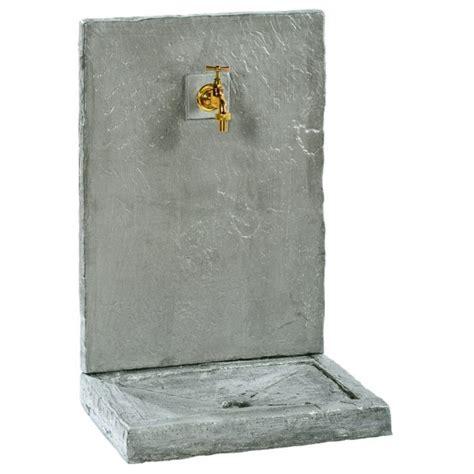 fontaine murale 64cm pm ardoisee zinc en reconstitu 233 e 018240