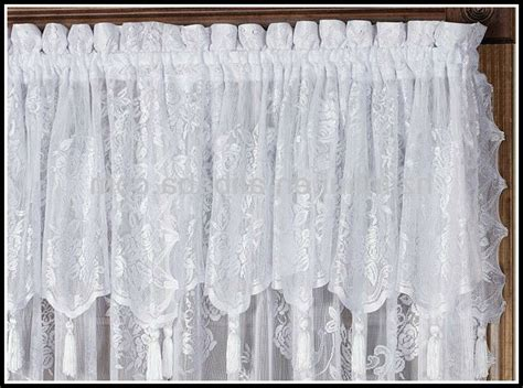 lace curtain panels with attached valance curtains home decorating ideas 7g9vkovva5