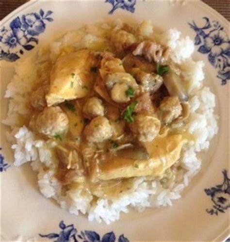 poule au riz sauce au curry recette iterroir