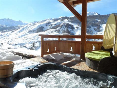 chalet vue montagne et pistes de ski piscine int ext hammam hautes alpes 876401