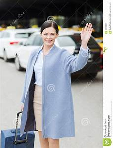 Young Woman Waving Hand Royalty-Free Stock Photo ...
