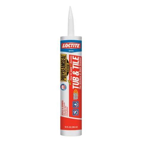 loctite polyseamseal 10 fl oz white tub and tile adhesive caulk 1675281 the home depot