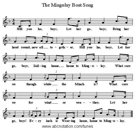 Mingulay Boat Song Sheet Music by Abc The Mingulay Boat Song Www Joe Offer Folkinfo
