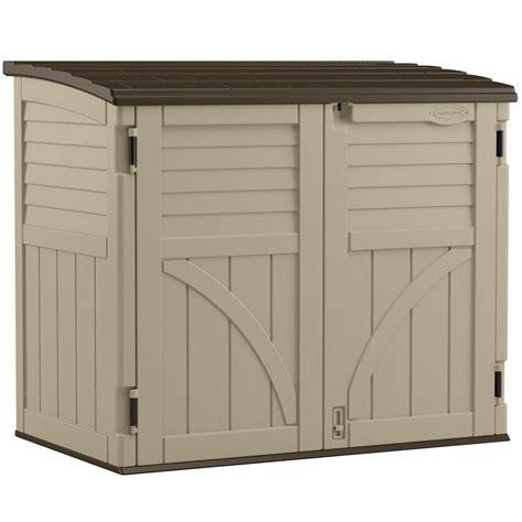 suncast horizontal storage shed 34 cu ft the home depot canada