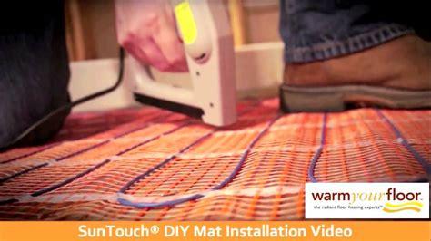 Suntouch Floor Warming Mat Suntouch 30 Diy Floor Heating Mat Install Knowledge Center