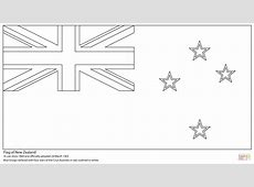 Inspiring Australia Flag Template Of New Zealand Coloring