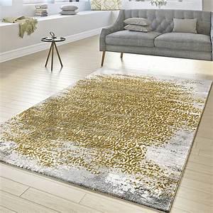 Teppich Wohnzimmer Grau : designer teppich wohnzimmer kurzflor teppich florale ornamente grau gold gelb ebay ~ Markanthonyermac.com Haus und Dekorationen