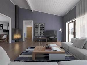 Wohnzimmer Gestalten Grau : wandfarbe grau 120 atemberaubende bilder ~ Markanthonyermac.com Haus und Dekorationen