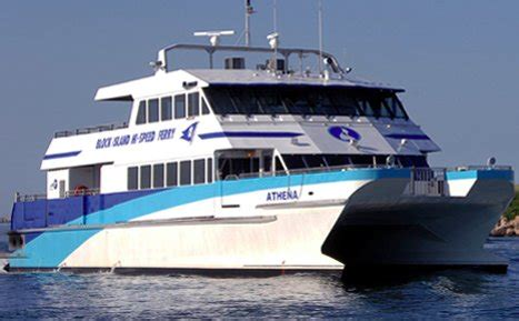 Catamaran Block Island by High Speed Ferry Fall River Newport Block Island
