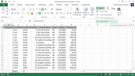Inserting And Deleting Worksheets In Excel Tutorial