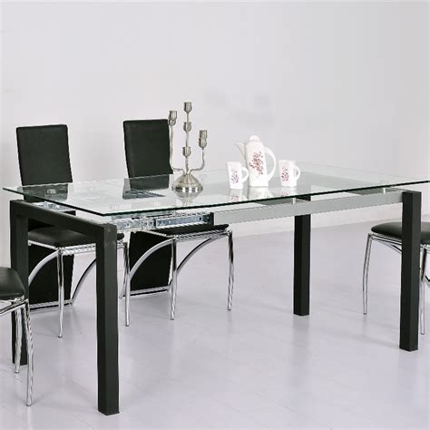 table salle a manger verre extensible 13 table a