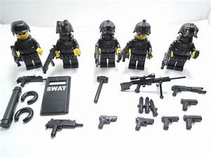 (no.5-28) custom lego swat 5 man Squad police navy seal ...