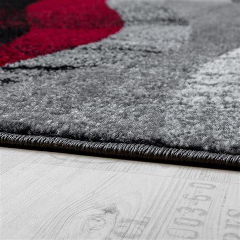 tapis design moderne poils ras vagues effet abstrait gris noir tous les produits
